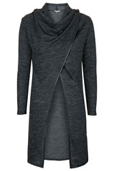 Cowl Neck Button Cardigan By Wal G Grey
