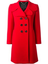Marc Jacobs Classic Double Breasted Coat Red