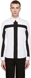 Givenchy White And Black Cross Shirt