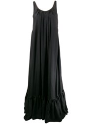 Brunello Cucinelli Flared Maxi Dress Black