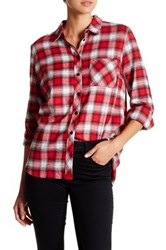 Kut From The Kloth Plaid Button Front Blouse Red