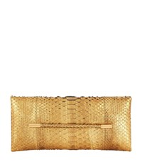 Tom Ford Eve Bar Python Clutch Gold