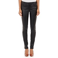 Vince Leather Skinny Jeans Black
