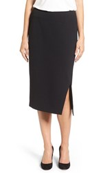 Vince Camuto Women's Slit Pencil Skirt Rich Black