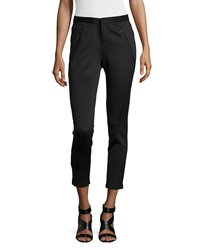Philosophy Scuba Zipper Detail Crop Pants Blackbird
