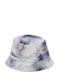 Isabel Marant Haley Tie Dye Cotton Bucket Hat Blue
