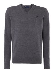 Fred Perry Classic V Neck Pull Over Sweater Graphite