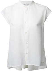 Y 3 Mandarin Collar Shirt White