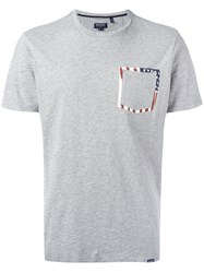 Woolrich Printed Pocket T Shirt Grey