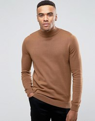 New Look Turtle Neck Jumper In Camel Camel Tan