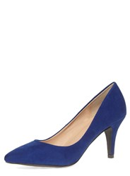 Dorothy Perkins Mid Heel Point Court Shoes Blue