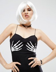 Asos Halloween White Faux Hair Wig White