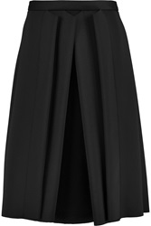Iris And Ink Georgina Pleated Neoprene Midi Skirt Black