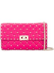 Valentino Garavni Rockstud Spike Chain Bag Pink And Purple