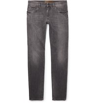 Dolce And Gabbana Slim Fit Stretch Denim Jeans Gray