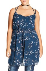 City Chic Plus Size Women's Fly Away Tunic Fine Floral