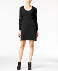 Ny Collection Petite Ribbed Sweater Dress Black