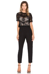 Greylin Kiran Lace Jumpsuit Black