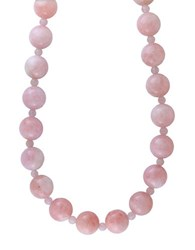 Effy Morganite And 14K Yellow Gold Beaded Necklace