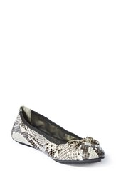 Women's Me Too 'Legend 2.0' Ballet Flat Taupe Black Leather