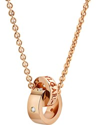Bulgari Roman Sorbets 18Ct Pink Gold And Diamond Necklace