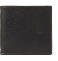 Rrl Textured Leather Billfold Wallet Dark Brown