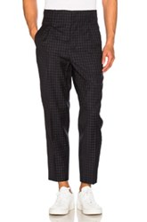3.1 Phillip Lim Lightweight Wool Suiting Trousers In Black Checkered And Plaid Black Checkered And Plaid