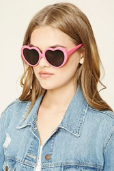 Forever 21 Heart Shaped Sunglasses Pink Grey