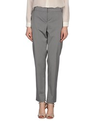 Blue Les Copains Trousers Casual Trousers Women Grey