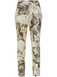 Andrea Marques Map Print Straight Trousers Unavailable