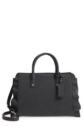 Sole Society Faux Leather Satchel Black