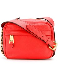 Moschino Logo Crossbody Bag Red