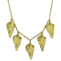 London Road 9Ct Gold Kew Leaf Necklace