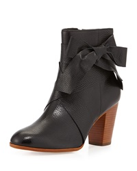 Tracee Leather Bow Bootie Black Kate Spade New York