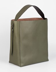 Valextra Sacca Bucket Bag Military