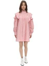 Etoile Isabel Marant Patsy Ruffled Cotton Dress Pink