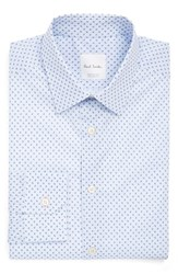 Paul Smith Men's London Extra Trim Fit Paisley Print Dress Shirt Blue