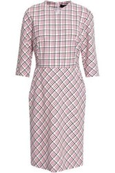 Piazza Sempione Woman Checked Wool Blend Dress Ivory