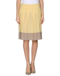 Cappellini Knee Length Skirts Yellow