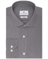 Ryan Seacrest Distinction Slim Fit Non Iron Black Houndstooth Dress Shirt Only At Macy's