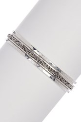 Lois Hill Sterling Silver Stackable Bangle Set No Color