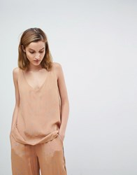 Moss Copenhagen Relaxed Cami In Spot Co Ord Tan