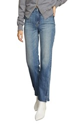 Habitual Lucia High Rise Side Slit Raw Hem Nonstretch Jeans Imperial