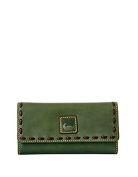 Dooney And Bourke Leather Checkbook Wallet Sage