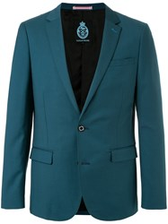 Guild Prime Classic Fitted Blazer Polyester Polyurethane Rayon Green