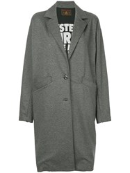 Hysteric Glamour Oversize Single Breasted Coat Grey