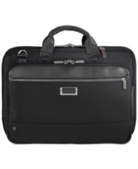 Briggs And Riley Work Slim Briefcase Black