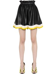 Fendi High Waist Nappa Leather Shorts