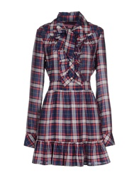 H. Preppy Short Dresses Blue