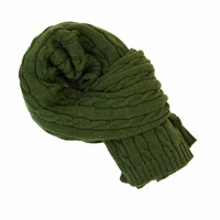 40 Colori Green Solid Thick Wool Scarf